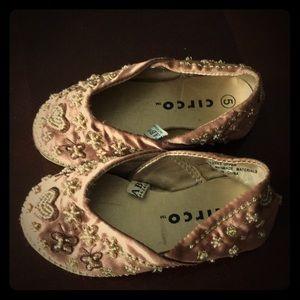 Circo Baby Girl Satin Beaded Style Shoes